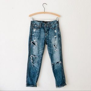 Vintage Boyfriend Medium Wash Ripped Jeans 24